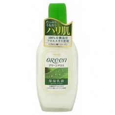 молочко для ухода за сухой и нормальной кожей meishoku green plus aloe moisture milk