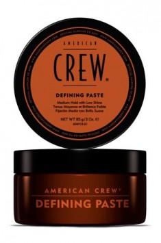 AMERICAN CREW Паста со средней фиксацией и низким уровнем блеска для укладки волос, для мужчин / Defining Paste 85 г