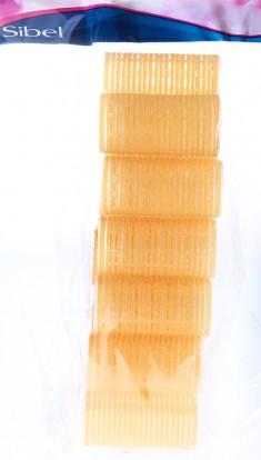 SIBEL Бигуди-липучки желтые 32 мм 12 шт/уп
