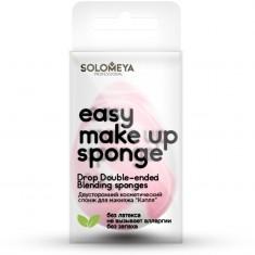SOLOMEYA Спонж косметический двусторонний для макияжа Капля / Drop Double-ended blending sponge 1 шт