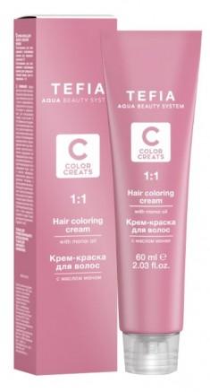 TEFIA 7.27 краска для волос, блондин жемчужный / Color Creats 60 мл