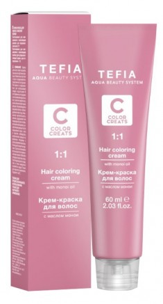TEFIA 6.3 краска для волос, темный блондин золотистый / Color Creats 60 мл