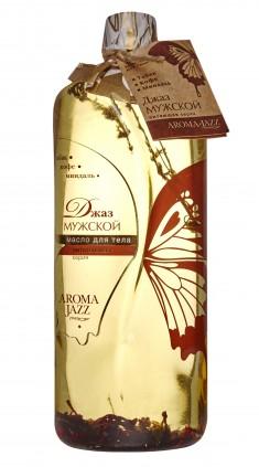 AROMA JAZZ Масло массажное жидкое для тела Мужской джаз 1000 мл