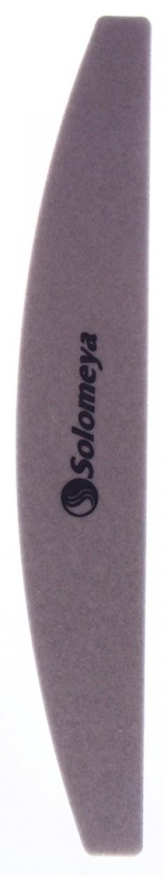 SOLOMEYA Пилка для ногтей 220/200 Арка / Harbor Bridge Brown Mylar