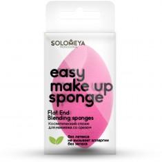 SOLOMEYA Спонж косметический со срезом для макияжа / Flat End blending sponge 1 шт