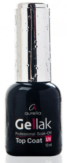 AURELIA Покрытие верхнее / Soak-off Top Coat GELLAK 10 мл