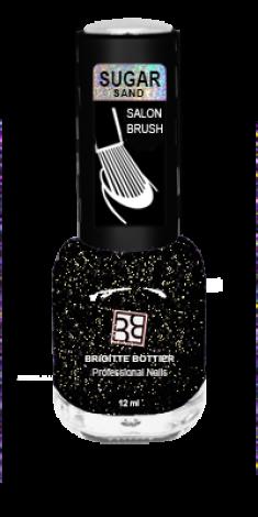 BRIGITTE BOTTIER 301 лак для ногтей фактурный, искрящийся графит / SUGAR SAND 12 мл