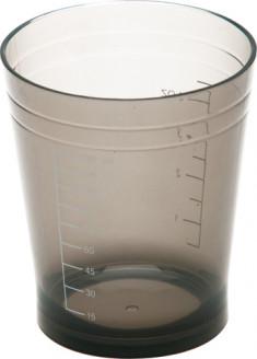 DEWAL PROFESSIONAL Стакан мерный с резинкой на дне (черный) 135 мл
