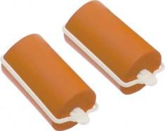 DEWAL BEAUTY Бигуди резиновые оранжевые, d 32x70 мм 10 шт
