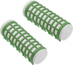 DEWAL BEAUTY Бигуди термо зеленые, d 23 x 68 мм 6 шт