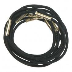 DEWAL PROFESSIONAL Резинки для волос черные midi 10 шт/уп