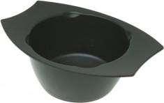 DEWAL PROFESSIONAL Чаша для краски с двумя ручками, с резинкой на дне (черная) 300 мл
