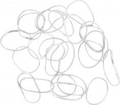 DEWAL PROFESSIONAL Резинки для волос силиконовые, белые mini 100 шт/уп