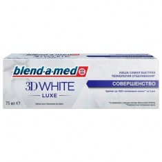 Blend-a-med зубная паста 3D WHITE LUXE совершенство 75мл