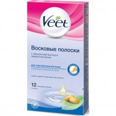 Veet полоски восковые для депиляции для чувствительной кожи N12