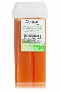 DEPILFLAX 100 Воск для депиляции в картридже, облепиха 110 г