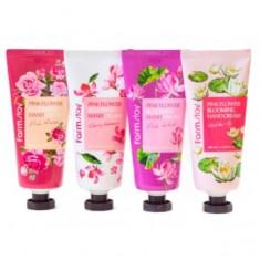крем для рук farmstay pink flower blooming hand cream