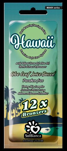 SOLBIANCA Крем с маслами зародышей пшеницы, оливы, экстрактом крапивы и бронзаторами для загара в солярии / Hawaii 15 мл