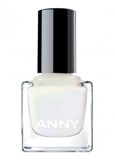 Лак для ногтей Снежный с легким розовым перламутровым отблеском ANNY