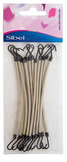 SIBEL Резинки на крючках белые 12 шт