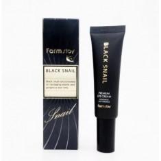 премиальный крем для глаз с муцином черной улитки farmstay black snail premium eye cream
