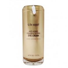 антивозрастной крем для кожи вокруг глаз с коллагеном и частицами 24к золота la soyul anti-aging collagen & 24k gold eye cream