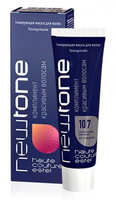 ESTEL HAUTE COUTURE 10/7 маска тонирующая для волос, светлый блондин коричневый / NEWTONE 60 мл