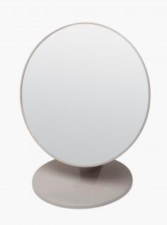 DEWAL BEAUTY Зеркало настольное, в серой оправе, на пластиковой подставке 20x23,5 см