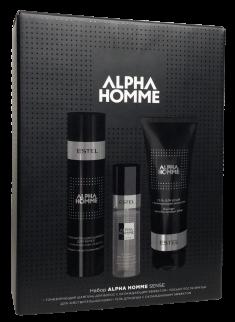 ESTEL PROFESSIONAL Набор для мужчин (тонизирующий шампунь, гель для душа, лосьон после бритья для чувствительной кожи) / ALPHA HOMME SENSE