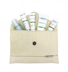 CHRISTINA Набор дорожный для лица (сыворотка 15 мл, гель 50 мл, крем 15 мл, тоник 40 мл, крем 15 мл) Bio Phyto Travel kit