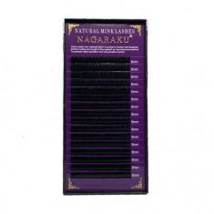 NAGARAKU, Ресницы на ленте Natural Mink, 8/0,12 мм, C-изгиб
