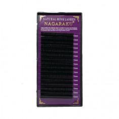 NAGARAKU, Ресницы на ленте Natural Mink, 13/0,12 мм, D-изгиб