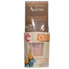 Avene набор Увлажняющий автобронзант для лица и тела,100мл+Мягкий скраб для тела 15мл