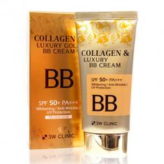 ББ крем с коллагеном и коллоидным золотом 3W CLINIC Collagen & Luxury Gold BB Cream SPF50+/PA+++