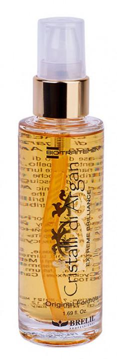 BRELIL PROFESSIONAL Средство однофазное для восстановления, разглаживания и экстремального блеска волос Кристаллы Аргании / Biotraitement Cristalli di argan 50 мл