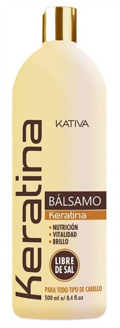KATIVA Бальзам-кондиционер укрепляющий с кератином для всех типов волос / KERATINA 500 мл