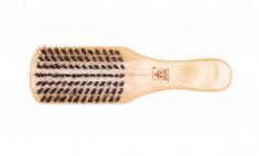 DEWAL PROFESSIONAL Щетка для укладки волос и бороды, натуральная щетина, 7-рядная