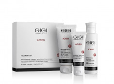 GIGI Набор трехступенчатый Чистая кожа (мыло 100 мл, крем акнеконтроль 50 мл , эссенция 120 мл) ACNON Set