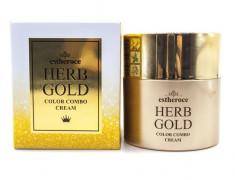 увлажняющим сс-крем с золотом deoproce estheroce herb gold color combo cream