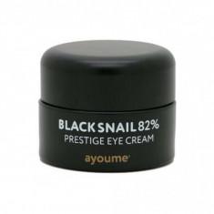 крем для глаз муцином черной улитки ayoume black snail prestige eye cream