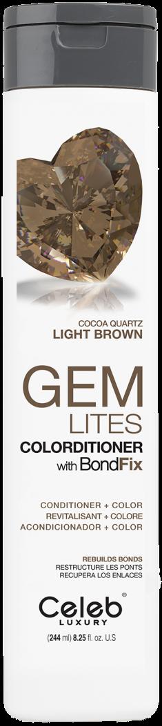 CELEB LUXURY Кондиционер тонирующий корректирующий цвет, шоколадный кварц / Gem Lites Cocoa Quartz Colorditioner 244 мл