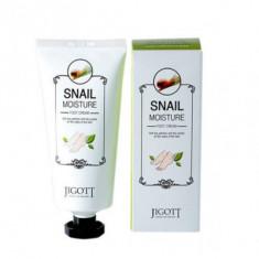 Крем для ног увлажняющий с улиточным муцином JIGOTT Snail Moisture Foot Cream