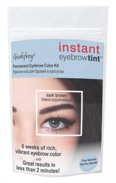 GODEFROY Краска-хна в капсулах для бровей с эффектом татуажа, коричневая / Eyebrow Tint Medium Brown 1 шт