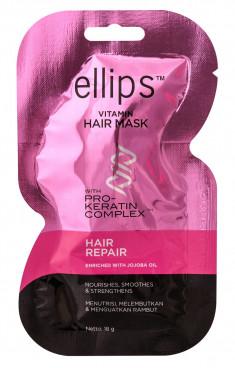 ELLIPS Маска для восстановления сильно поврежденных волос / Pro-Keratin Hair Repair 18 г