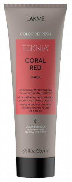 LAKME Маска для обновления цвета красных оттенков волос / REFRESH CORAL RED MASK 250 мл