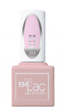 E.MI 154 WEC гель-лак для ногтей, Розовое кружево / E.MiLac 6 мл