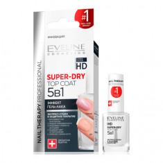 Eveline, Экспресс-сушка и защитное покрытие для ногтей 5 в 1, 12 мл