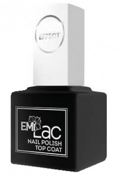 E.MI Покрытие верхнее для лака / Ultra Strong Top Coat Gel Effect 9 мл