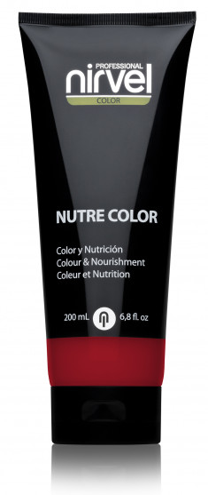 NIRVEL PROFESSIONAL Гель-маска питательная, цвет гранатовый / NUTRE COLOR GARNAT RED 200 мл