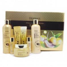 набор средств с улиточным муцином для осветления и разглаживания кожи deoproce whitening & anti-wrinkle snail 5 set